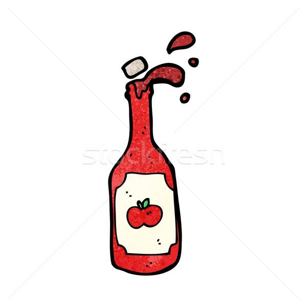 Karikatur Ketchup Kunst Flasche Retro Zeichnung Stock foto © lineartestpilot