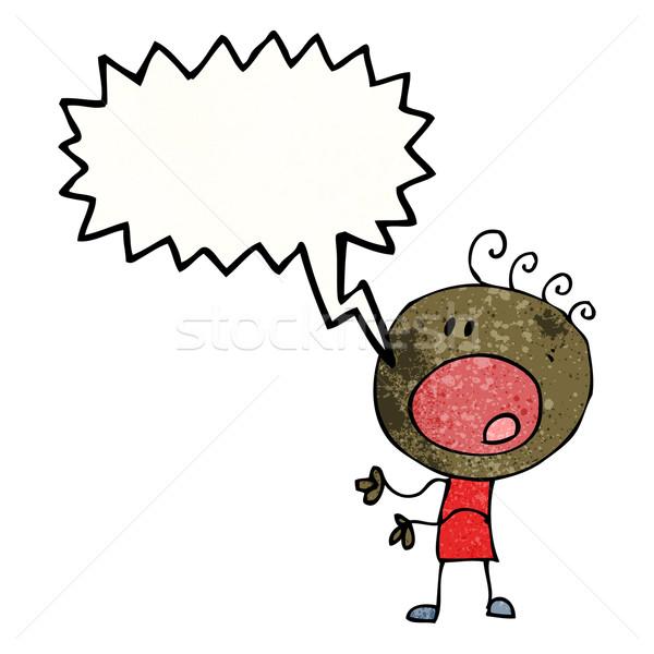 cartoon complaining doodle man Stock photo © lineartestpilot