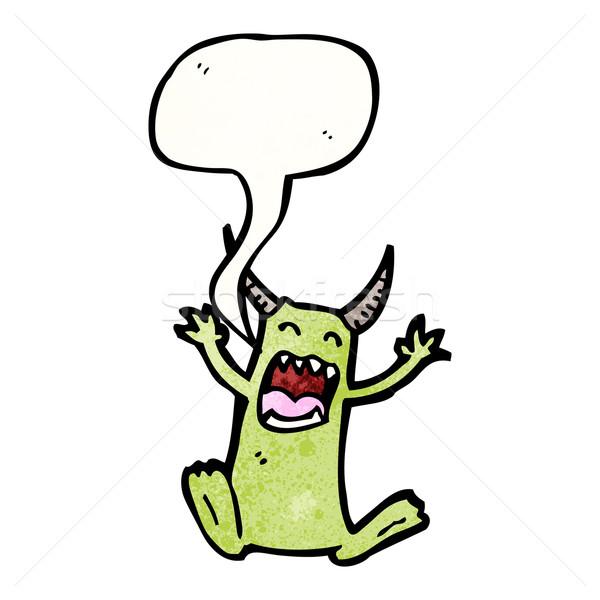 imp with speech bubble Stock photo © lineartestpilot