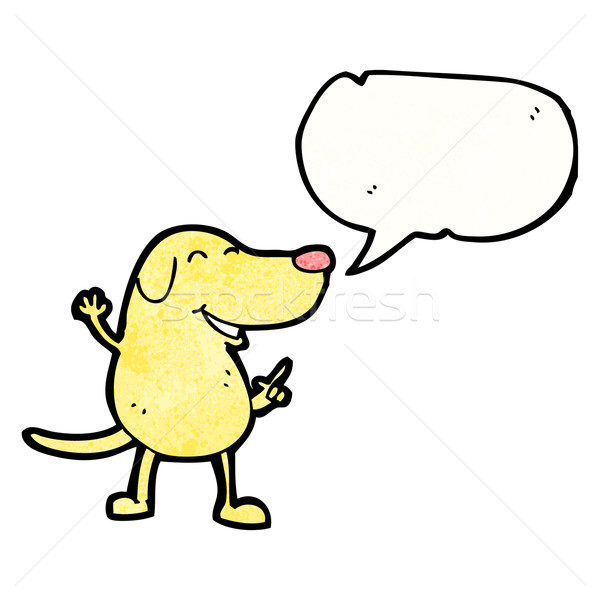 Cartoon cane retro texture isolato bianco Foto d'archivio © lineartestpilot