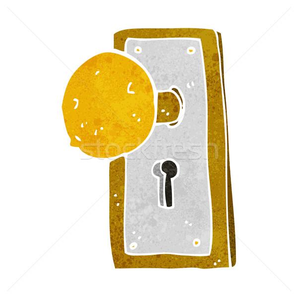 cartoon old door knob Stock photo © lineartestpilot