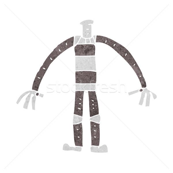 Rajz robot test keverék gyufa képregények Stock fotó © lineartestpilot