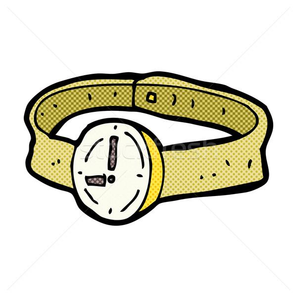 comic cartoon wrist watch Stock photo © lineartestpilot