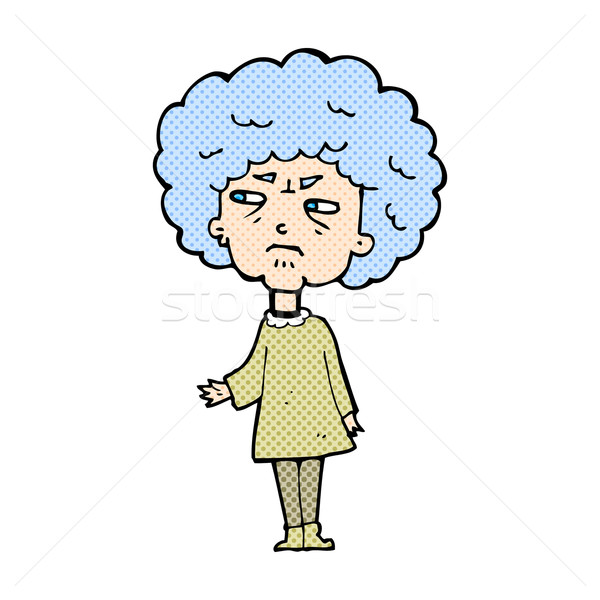 комического Cartoon старушку ретро стиль Сток-фото © lineartestpilot