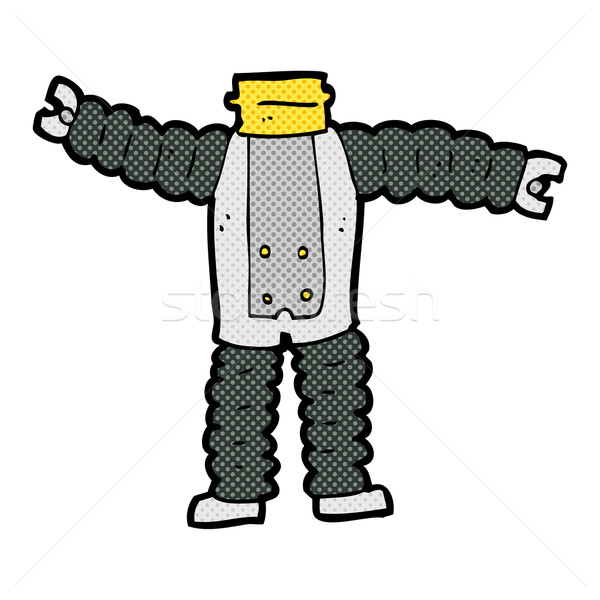 comic cartoon robot body (mix and match comic cartoons or add ow Stock photo © lineartestpilot