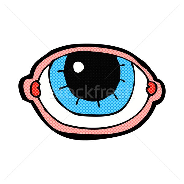 Képregény rajz bámul szem retro képregény Stock fotó © lineartestpilot
