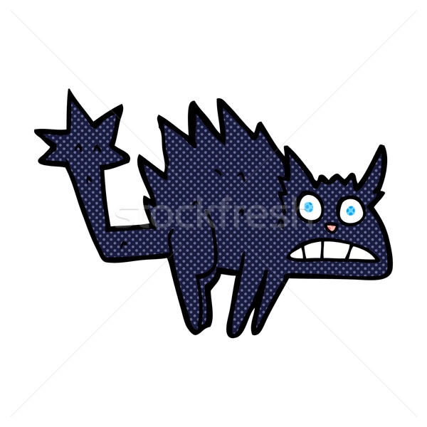 comic cartoon frightened black cat Stock photo © lineartestpilot