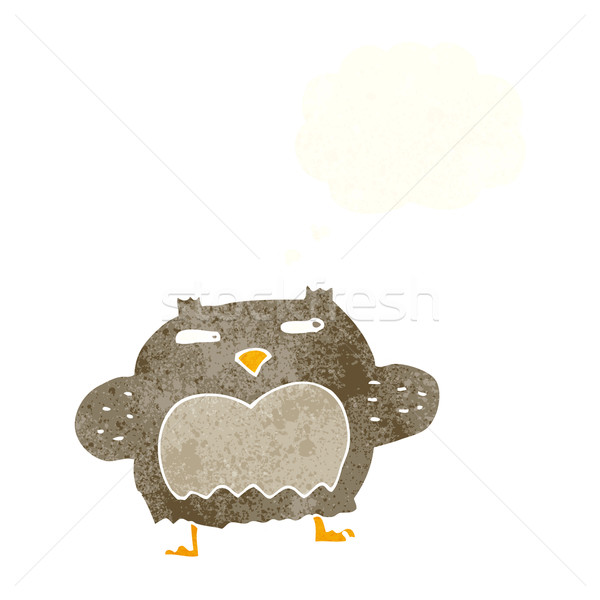 cartoon suspicious owl with thought bubble Stock photo © lineartestpilot