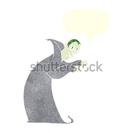 cartoon spooky vampire with thought bubble Stock photo © lineartestpilot