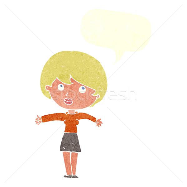 漫画 女性 吹き出し 手 デザイン ストックフォト © lineartestpilot