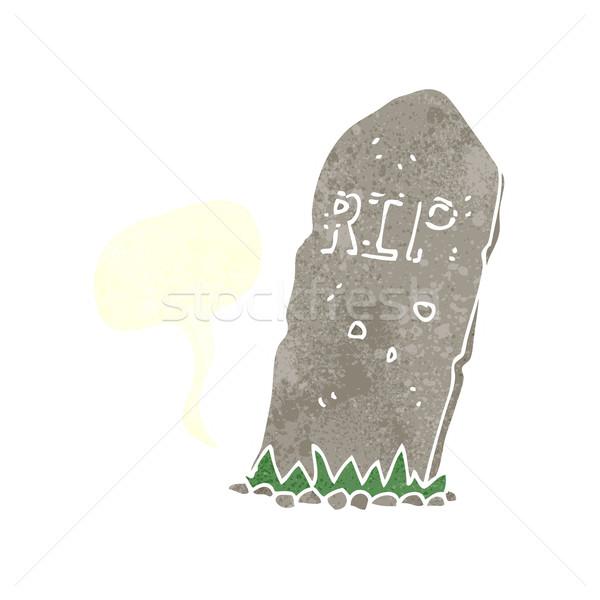 Cartoon grobu dymka strony projektu Zdjęcia stock © lineartestpilot