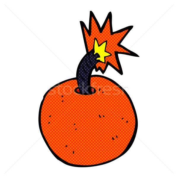 コミック 漫画 燃焼 爆弾 レトロな ストックフォト © lineartestpilot