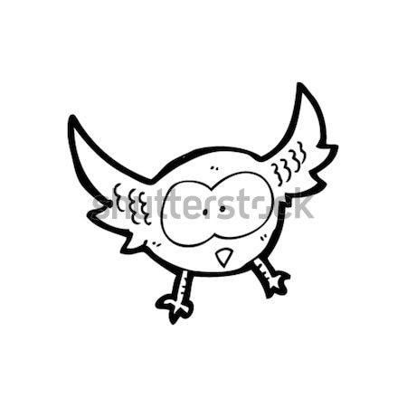 comic cartoon spooky vampire bat Stock photo © lineartestpilot
