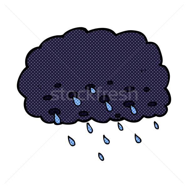 comic cartoon rain cloud Stock photo © lineartestpilot