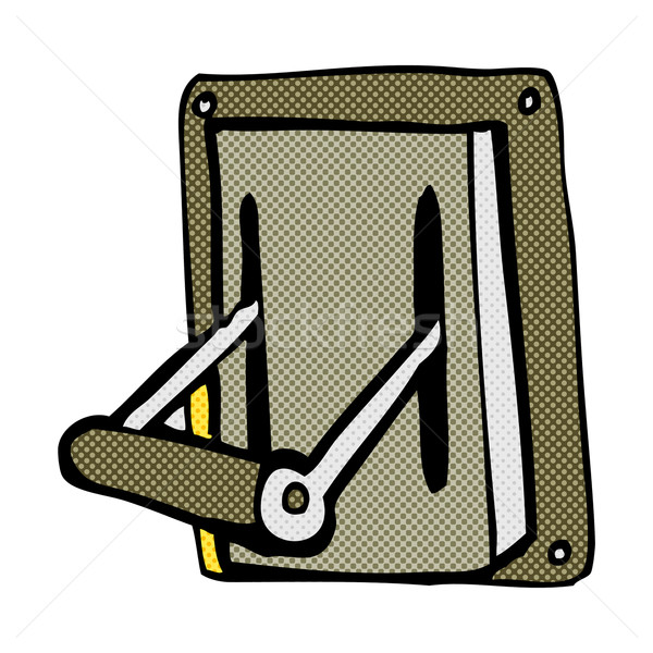 comic cartoon industrial machine lever Stock photo © lineartestpilot
