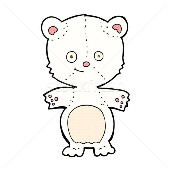 comic cartoon happy polar bear Stock photo © lineartestpilot