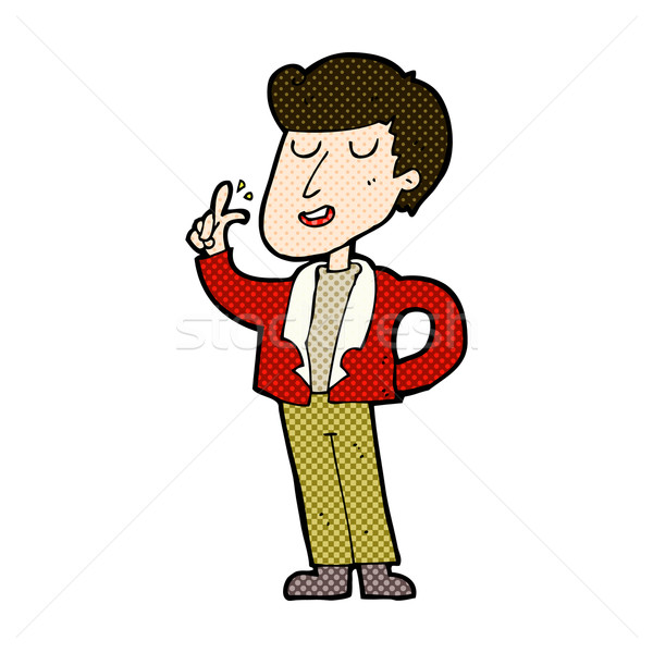 comic cartoon cool guy snapping fingers Stock photo © lineartestpilot