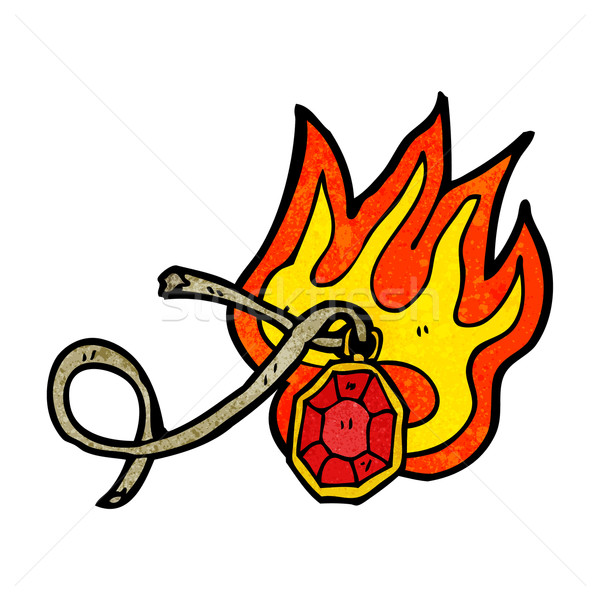 cartoon flaming gem Stock photo © lineartestpilot