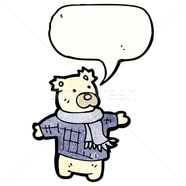 Jegesmedve plüssmaci rajz retro medve rajz Stock fotó © lineartestpilot