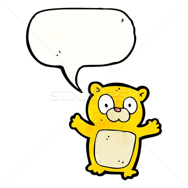 Сток-фото: Cartoon · мишка · ретро · рисунок · Cute · Тедди