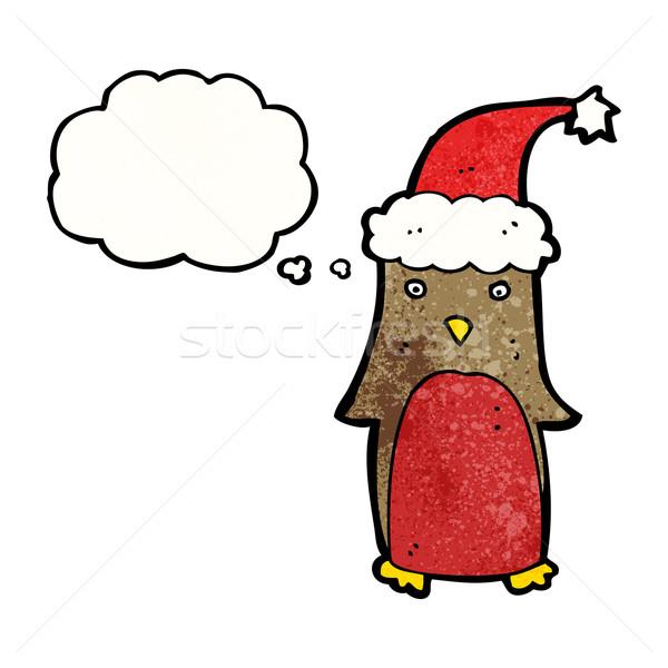 смешные Рождества Cartoon ретро шаре рисунок Сток-фото © lineartestpilot
