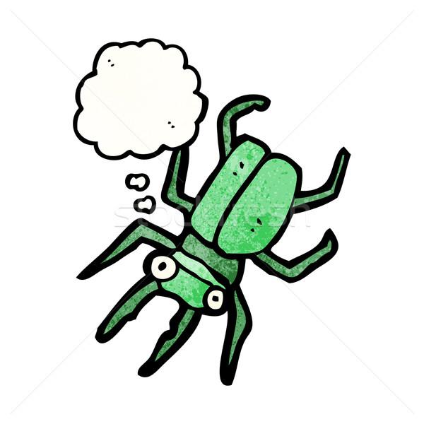 Géant bug cartoon rétro ballon dessin Photo stock © lineartestpilot