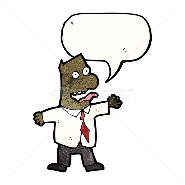 cartoon insane boss Stock photo © lineartestpilot