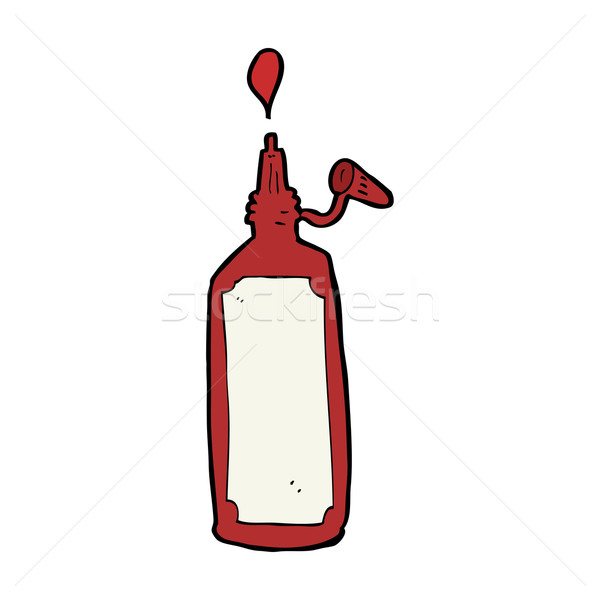 cartoon ketchup bottle Stock photo © lineartestpilot