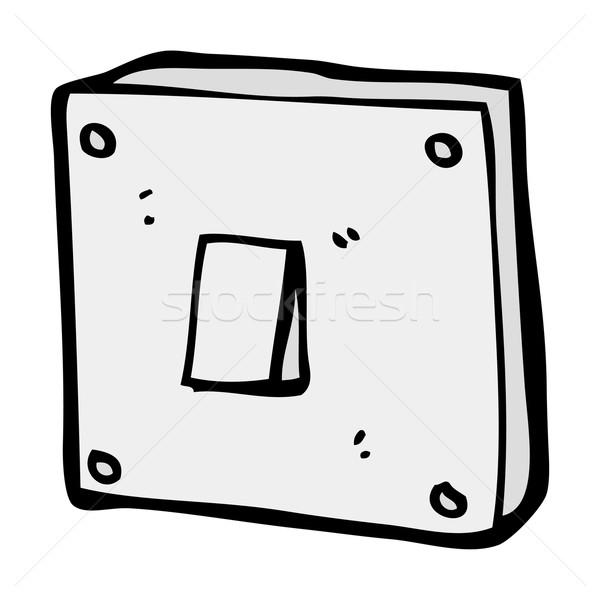 Cartoon interrupteur de lumière main lumière design fou Photo stock © lineartestpilot