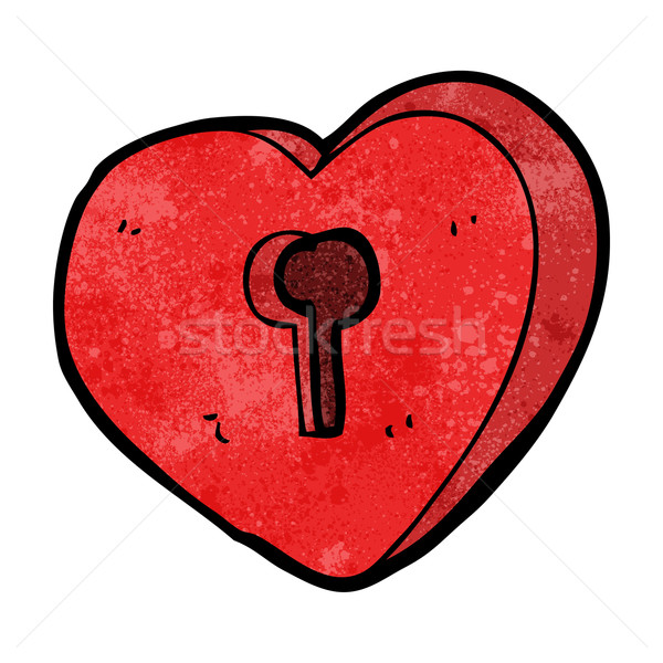 cartoon heart with keyhole Stock photo © lineartestpilot