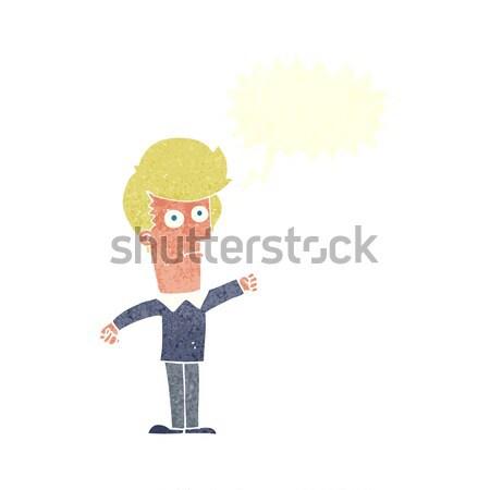 cartoon man punching Stock photo © lineartestpilot
