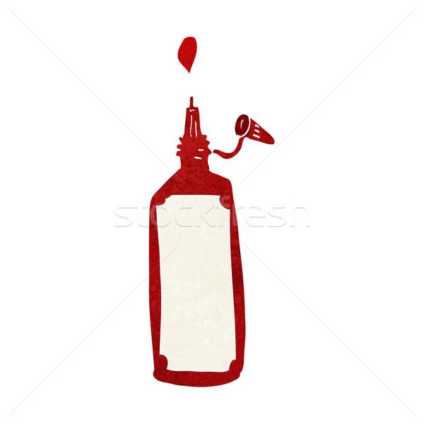 Karikatur Ketchup Flasche Design Kunst Retro Stock foto © lineartestpilot