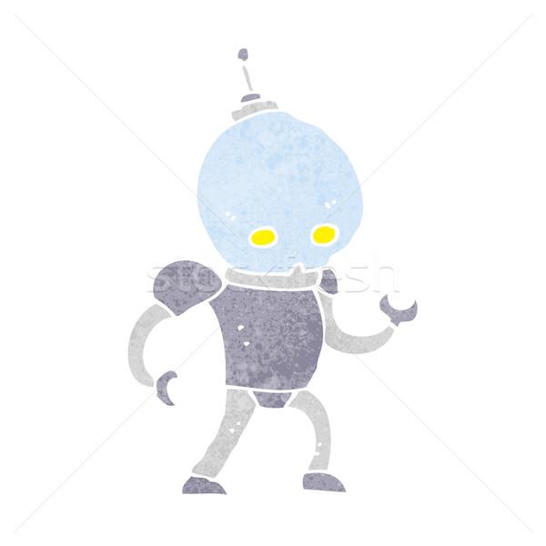 Karikatür yabancı robot dizayn sanat Retro Stok fotoğraf © lineartestpilot