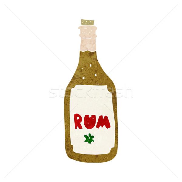 Cartoon rum bottiglia mano design Crazy Foto d'archivio © lineartestpilot
