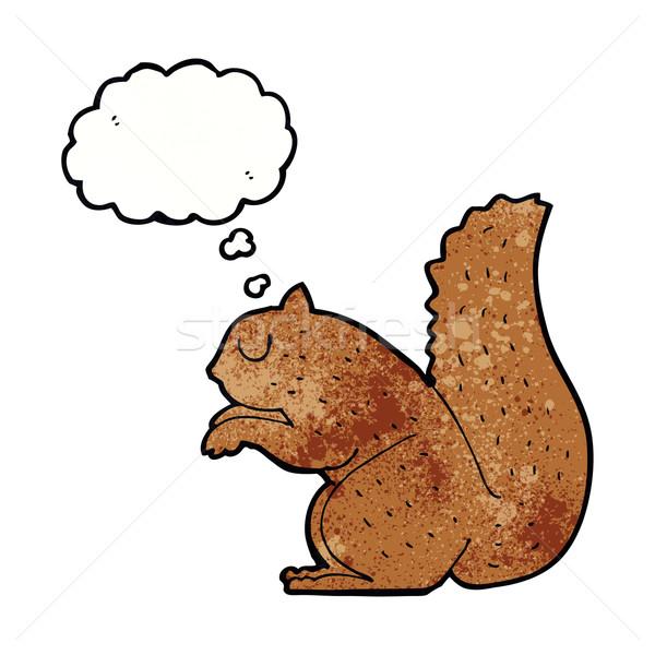 Cartoon wiewiórki bubble myśl strony projektu sztuki Zdjęcia stock © lineartestpilot