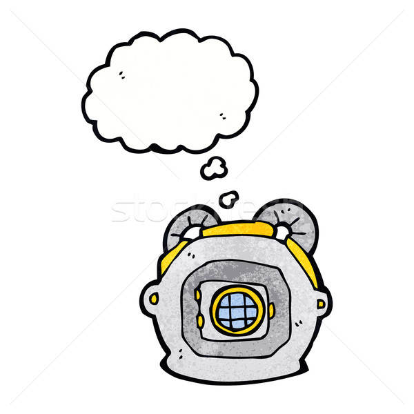 Cartoon старые глубокий морем Diver шлема Сток-фото © lineartestpilot