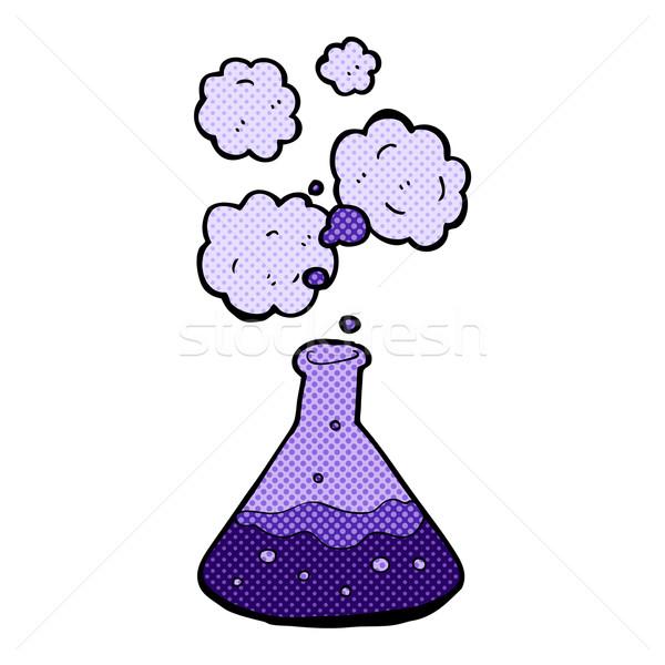 Képregény rajz tudomány vegyszerek retro képregény Stock fotó © lineartestpilot