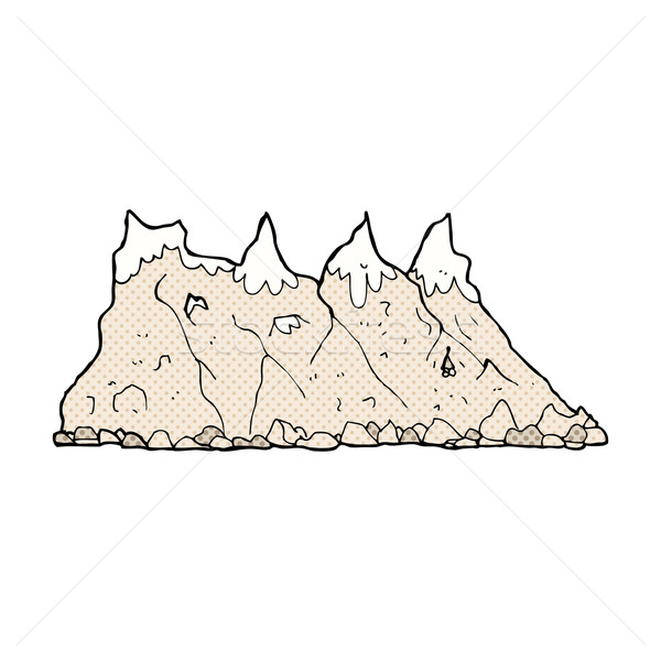 comic cartoon mountain range Stock photo © lineartestpilot
