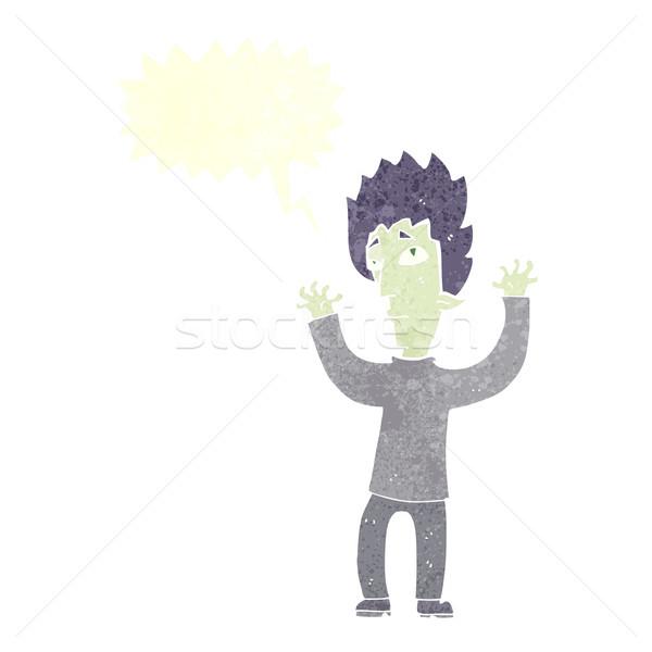 Cartoon vampiro hasta bocadillo mano diseno Foto stock © lineartestpilot