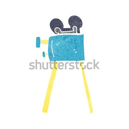 comic cartoon movie camera Stock photo © lineartestpilot