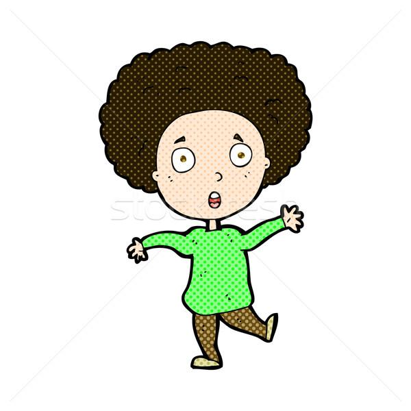 comic cartoon startled person Stock photo © lineartestpilot