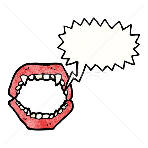 Rajz vámpír beszél retro rajz aranyos Stock fotó © lineartestpilot