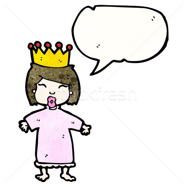 cartoon spoiled little princess Stock photo © lineartestpilot