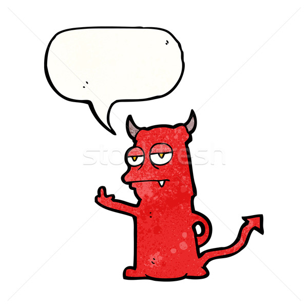 cartoon rude little devil Stock photo © lineartestpilot