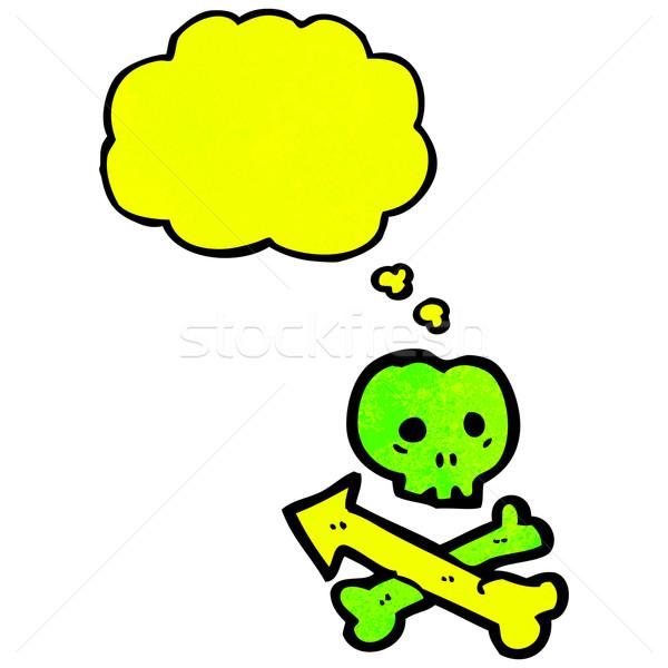 pointing skull and crossbones symbol Stock photo © lineartestpilot