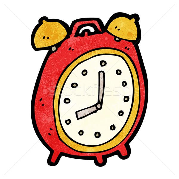 Desen animat ceas desteptator textură ceas artă desen Imagine de stoc © lineartestpilot
