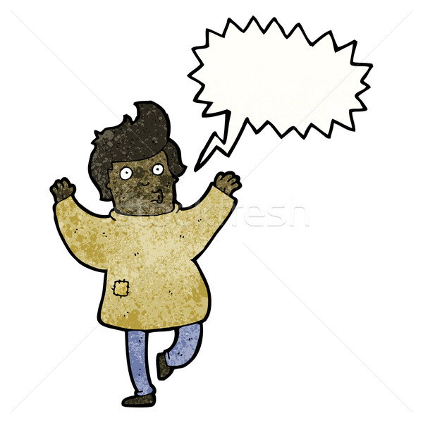 cartoon man in patched clothes dancing Stock photo © lineartestpilot