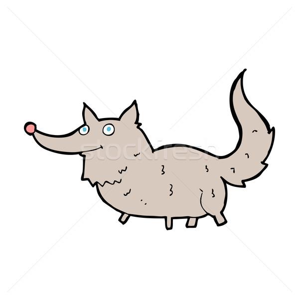Karikatür küçük kurt dizayn sanat hayvanlar Stok fotoğraf © lineartestpilot