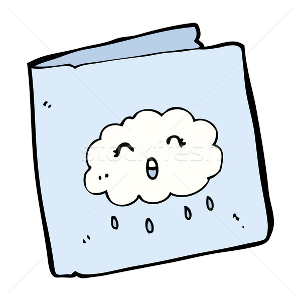 cartoon card with cloud pattern Stock photo © lineartestpilot