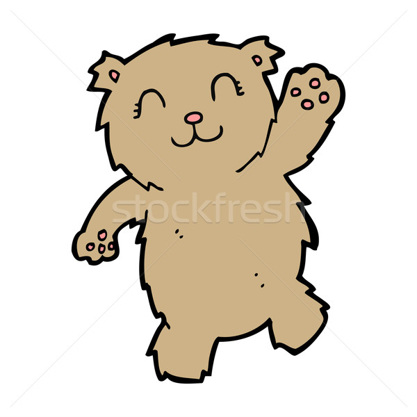 cartoon waving teddy bear Stock photo © lineartestpilot